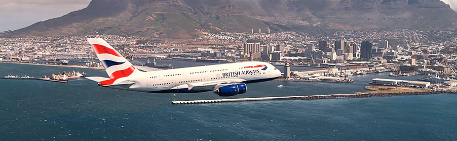 British Airways approaching Cape Town